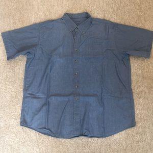 LLBean Men's Chambray Short-Sleeve Button-Down XXL